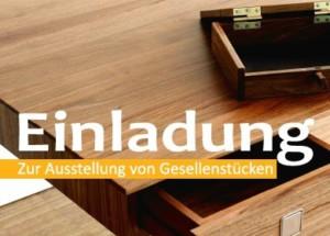 Einladung zur Gesellenstück-Ausstellung der Schreiner-Innung Böblingen 2016