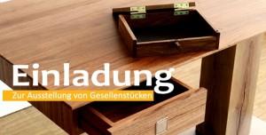 Einladung zur Gesellenstück-Ausstellung der Schreiner-Innung Böblingen 2017