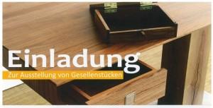 Einladung zur Gesellenstück-Ausstellung der Schreiner-Innung Böblingen 2018